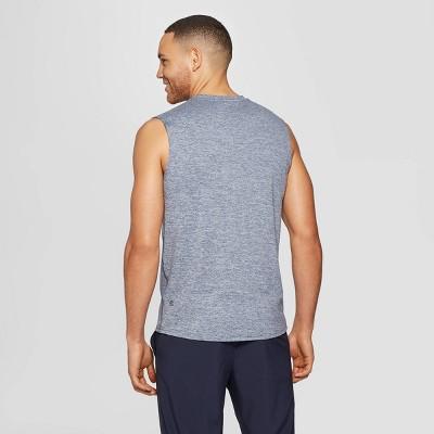 Men's Sleeveless Tech T-Shirt - C9 Champion Xavier Navy Heather M, Size: Medium, Xavier Blue Grey