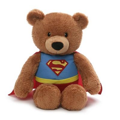 "GUND DC Comics Superman Brown Teddy Bear Plush - 15"" Stuffed Animal"