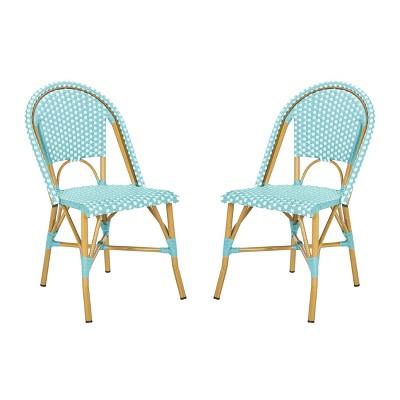 Salcha Indoor/Outdoor French Bistro Stacking Side Chair - Safavieh