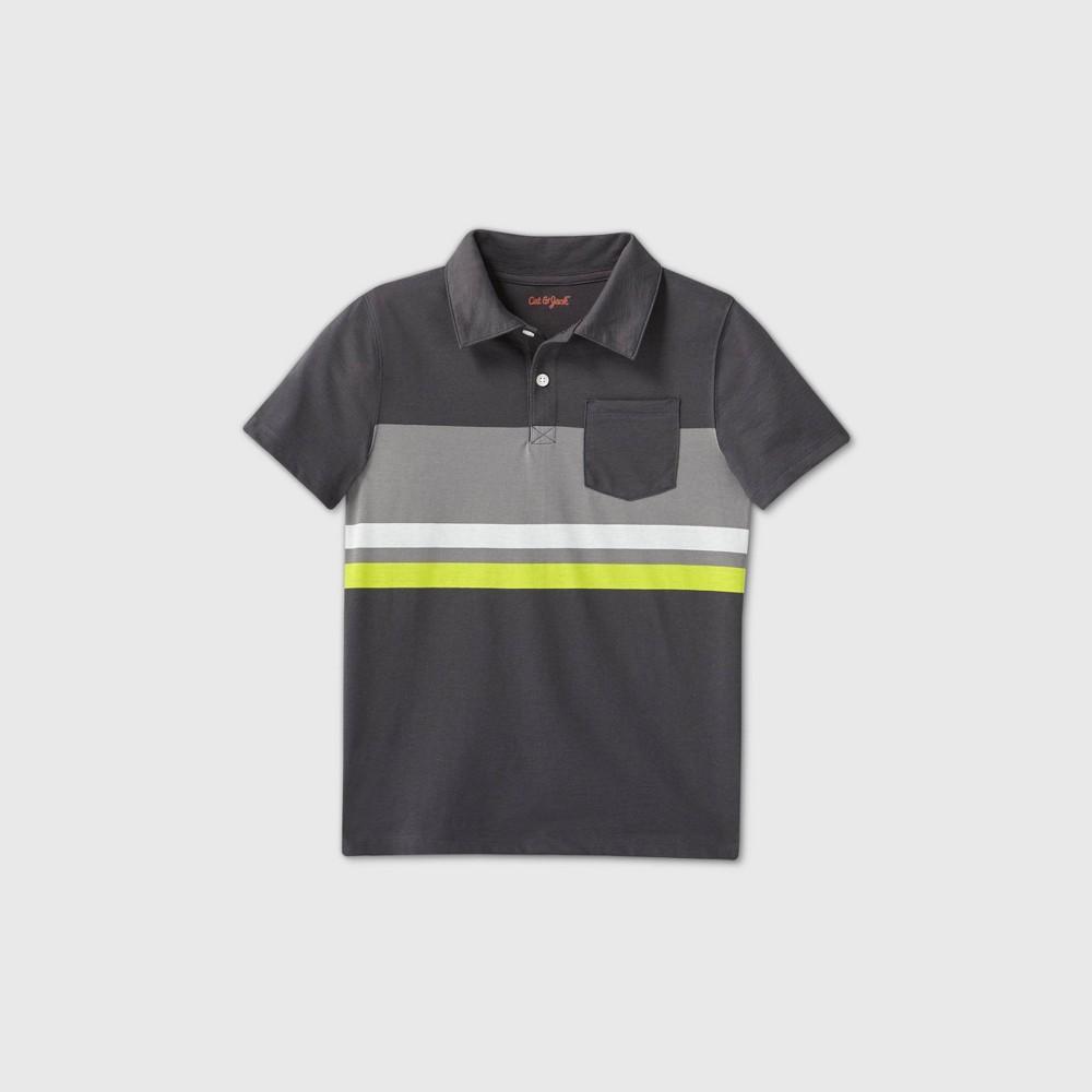 Discounts Boys' Striped Short Sleeve Knit Polo Shirt - Cat & Jack™