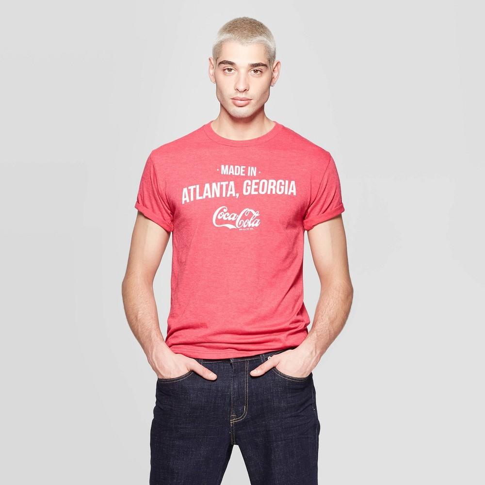 Image of Men's Coca-Cola Short Sleeve Crewneck Graphic T-Shirt - Coca-Cola Red L, Men's, Size: Large