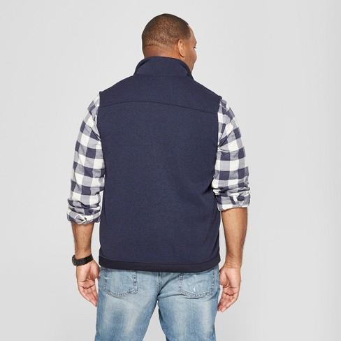 Mens Big Tall Sweater Fleece Vest Goodfellow Co Navy 5xbt
