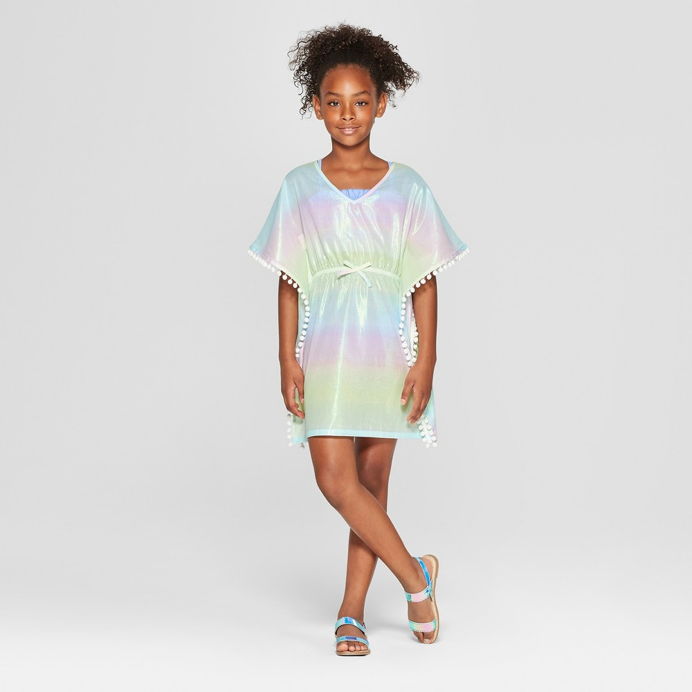 Girls' Ombre Pom Cover Up Dresses - Cat & Jack Pink M