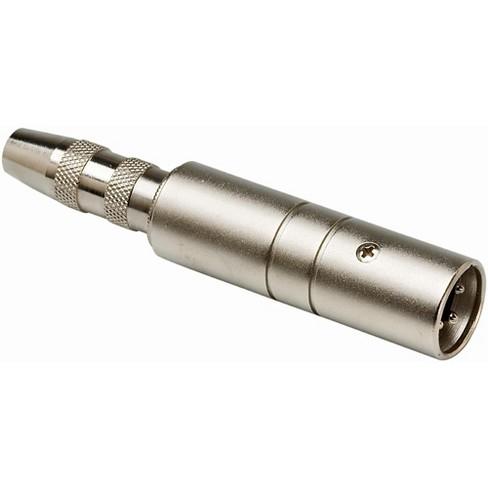 Hosa MIT129 XLR Male LO-Z to 1/4in TS Female HI-Z Microphone Input Impedance Transformer - image 1 of 1