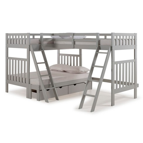 Twin Over Full Aurora Bunk Bed With Tri Bunk Target