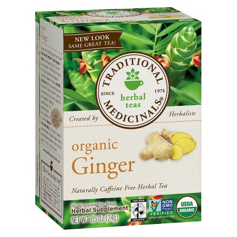 Traditional Medicinals Organic Ginger Herbal Tea - 16ct - image 1 of 1