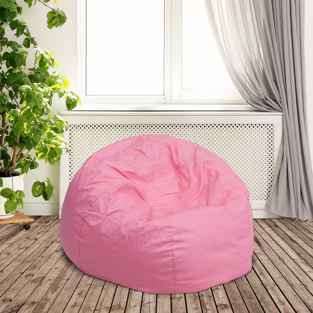 Riverstone Furniture Collection Bean Bag Chair Light Pink