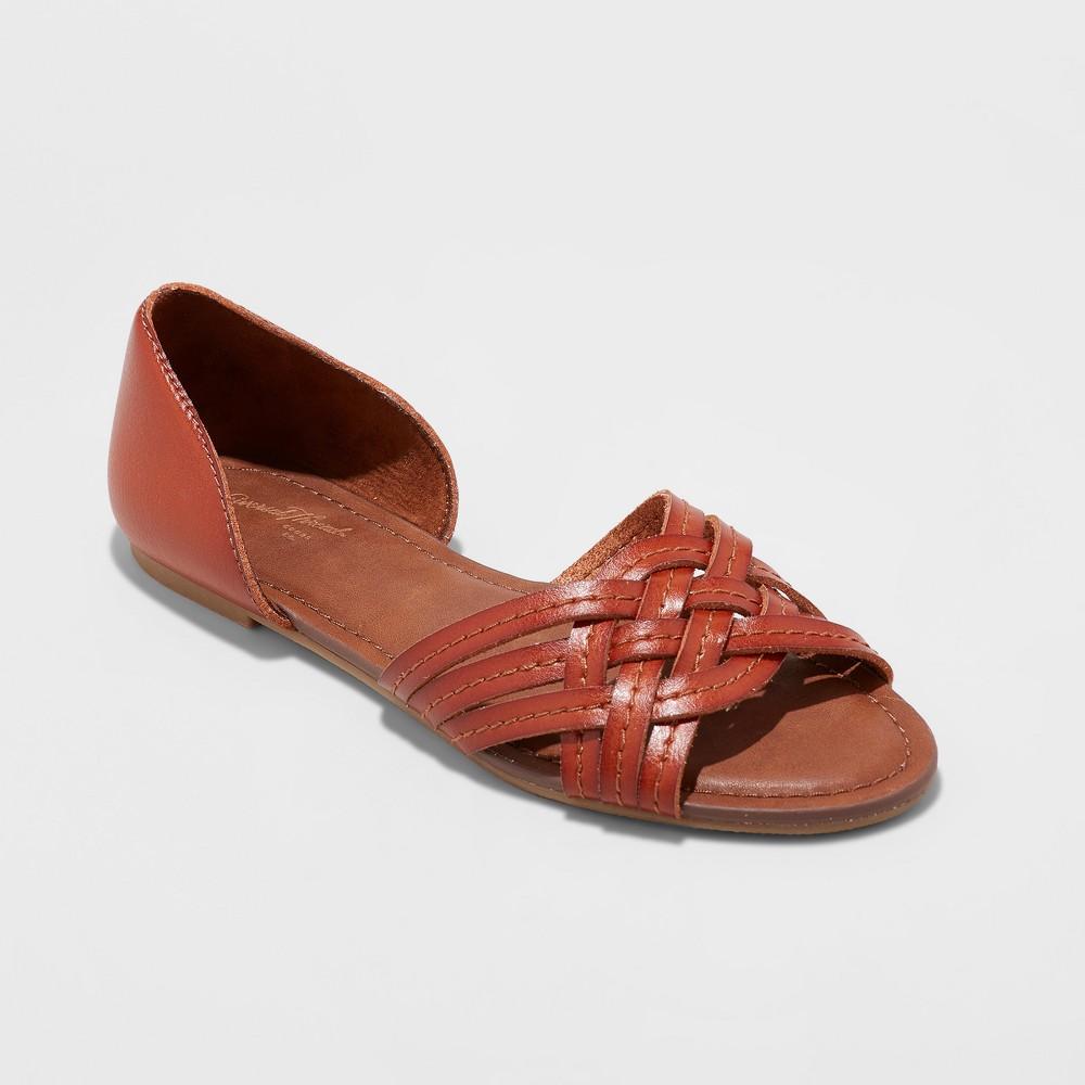 Women's Vail Open Toe Huarache Sandals - Universal Thread Cognac (Red) 7