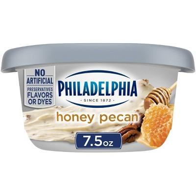 Philadelphia Regular Honey Pecan Cream Cheese Tub - 7.5oz