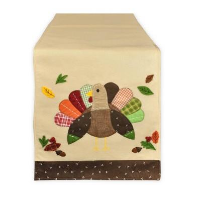 64 x14  Turkey Table Runner Cream - Design Imports