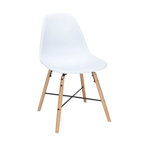 Set Of 4 18 Plastic Molded Mid Century, White Contemporary Dining Chairs