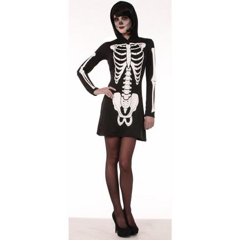 Forum Novelties Skeleton Hooded Mini Dress Adult Costume - image 1 of 1