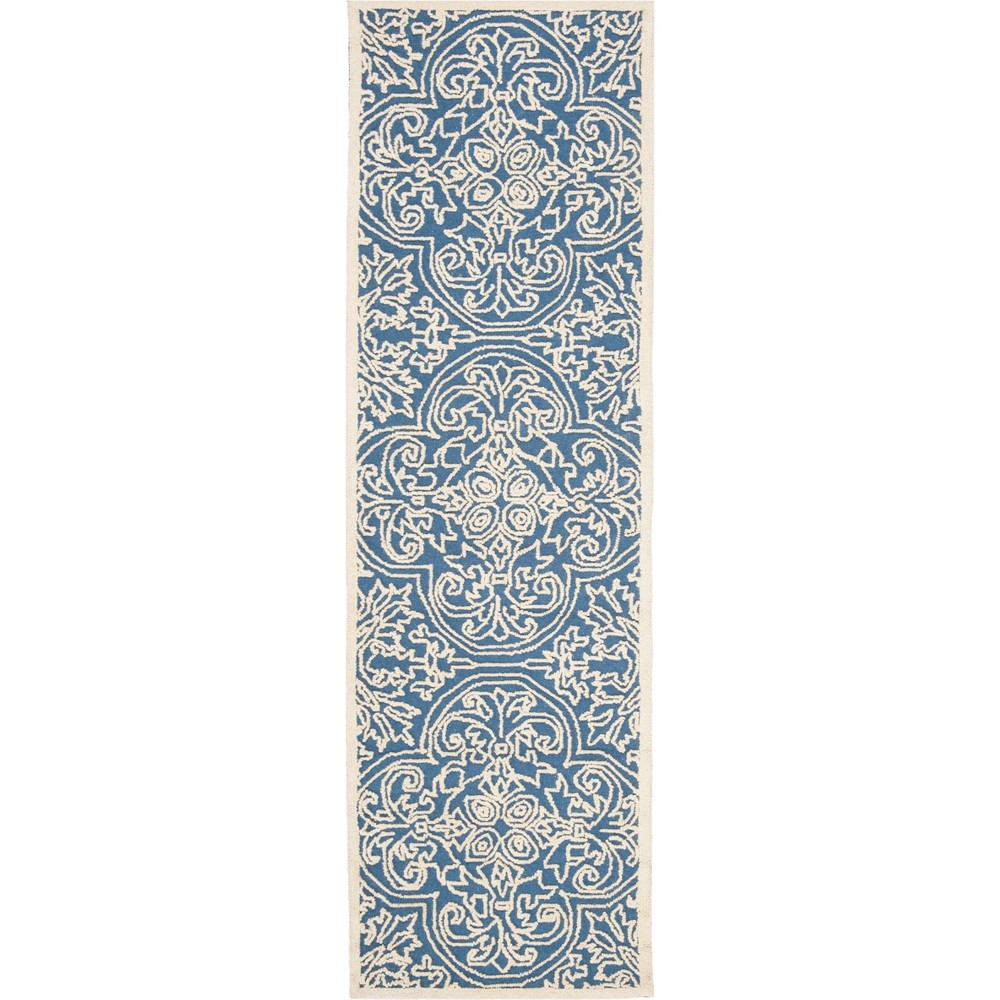 22X8 Shapes Tufted Runner Blue/Ivory - Safavieh Discounts