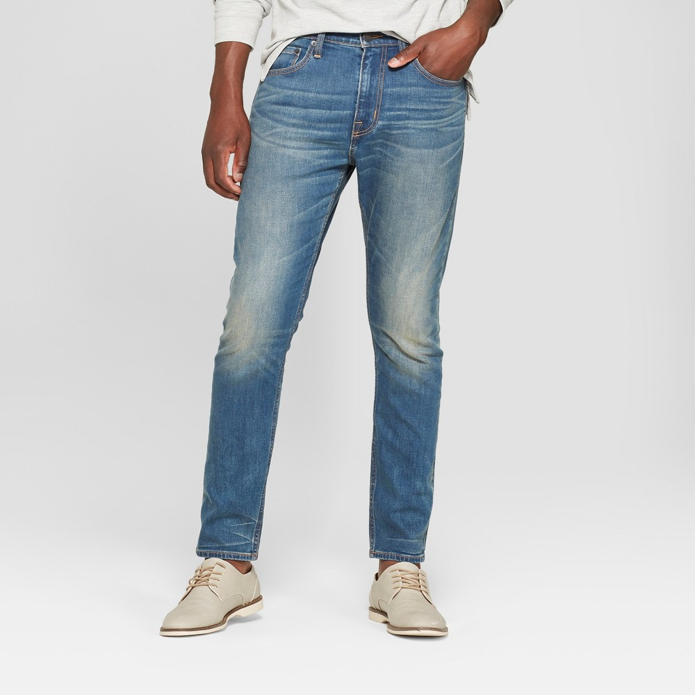 Men's Taper Fit Jeans - Goodfellow & Co Turquoise 34x32, Blue