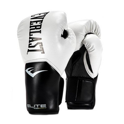 Everlast Pro Style Elite Exercise Workout Training Boxing Gloves for Sparring, Heavy Bag and Mitt Work, Size 12 Ounces, White