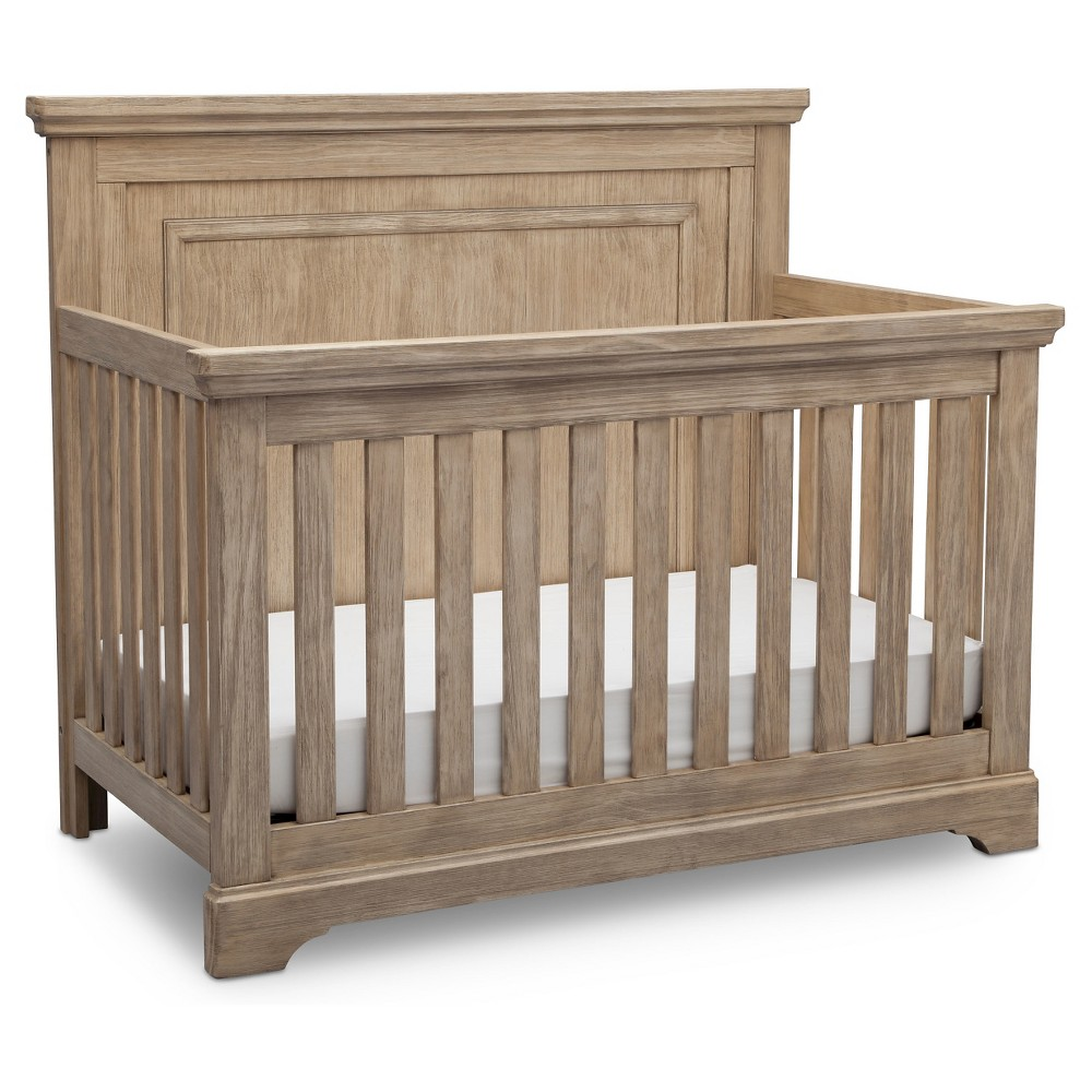 Image of Simmons Kids Slumber Time Paloma 4-in-1 Convertible Crib - Rustic Driftwood, Rustic Brown