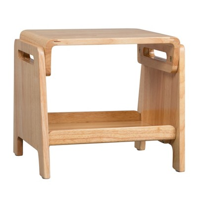 ECR4Kids Sit or Step Stool - Reversible Step and Sitting Stool for Kids - Natural