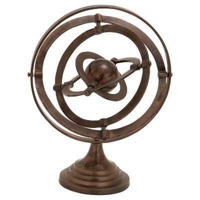 Nautical Rustic Aluminum Decorative Armillary Sphere (15 )- Olivia & May