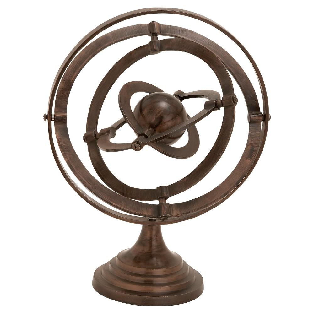 Nautical Rustic Aluminum Decorative Armillary Sphere (15) - Olivia & May, Brown