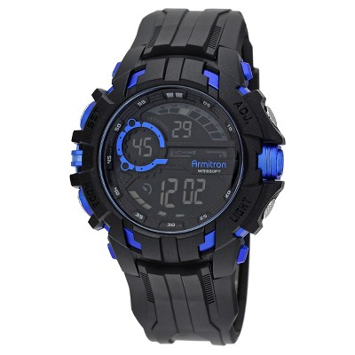 Armitron Sport Men's Chronograph Strap Watch - Black&Blue