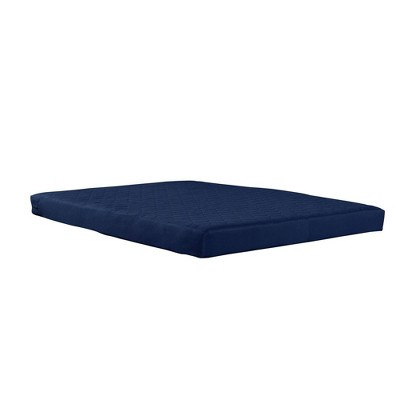 "Full 6"" Top Mattress Polyester Filled Quilted Blue - Room & Joy"
