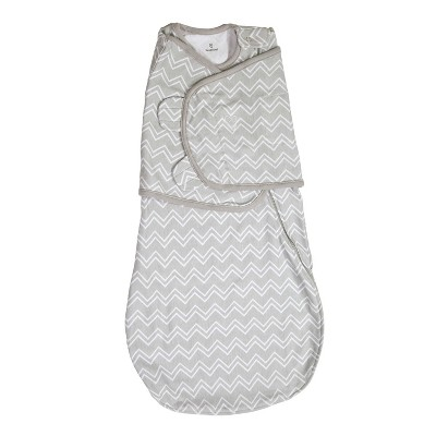 SwaddleMe® Love Sack Swaddle Wrap - Gray Chevron (S/M, 0-4mo)