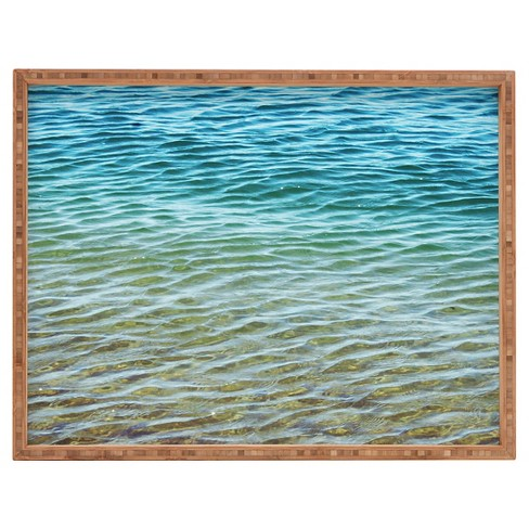 Shannon Clark Ombre Sea Rectangle Tray - Blue - Deny Designs® - image 1 of 1