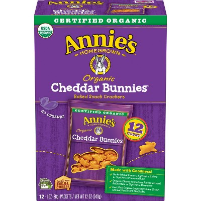 Annie's Cheddar Bunnies Baked Snack Crackers - 12oz
