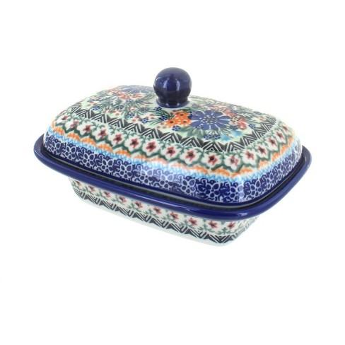 Blue Rose Polish Pottery Ashley Butter Tub - image 1 of 1