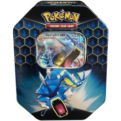 2019 Pokemon Trading Card Game Hidden Fates Fall Tin featuring Gyarados GX