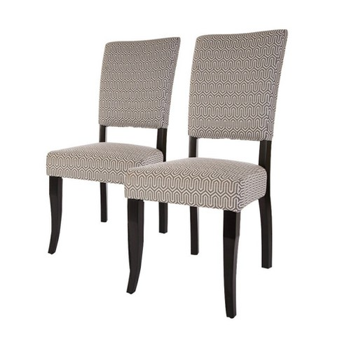Set of 2 Accent Fabric Dining Chair - Beige - Glitzhome - image 1 of 4