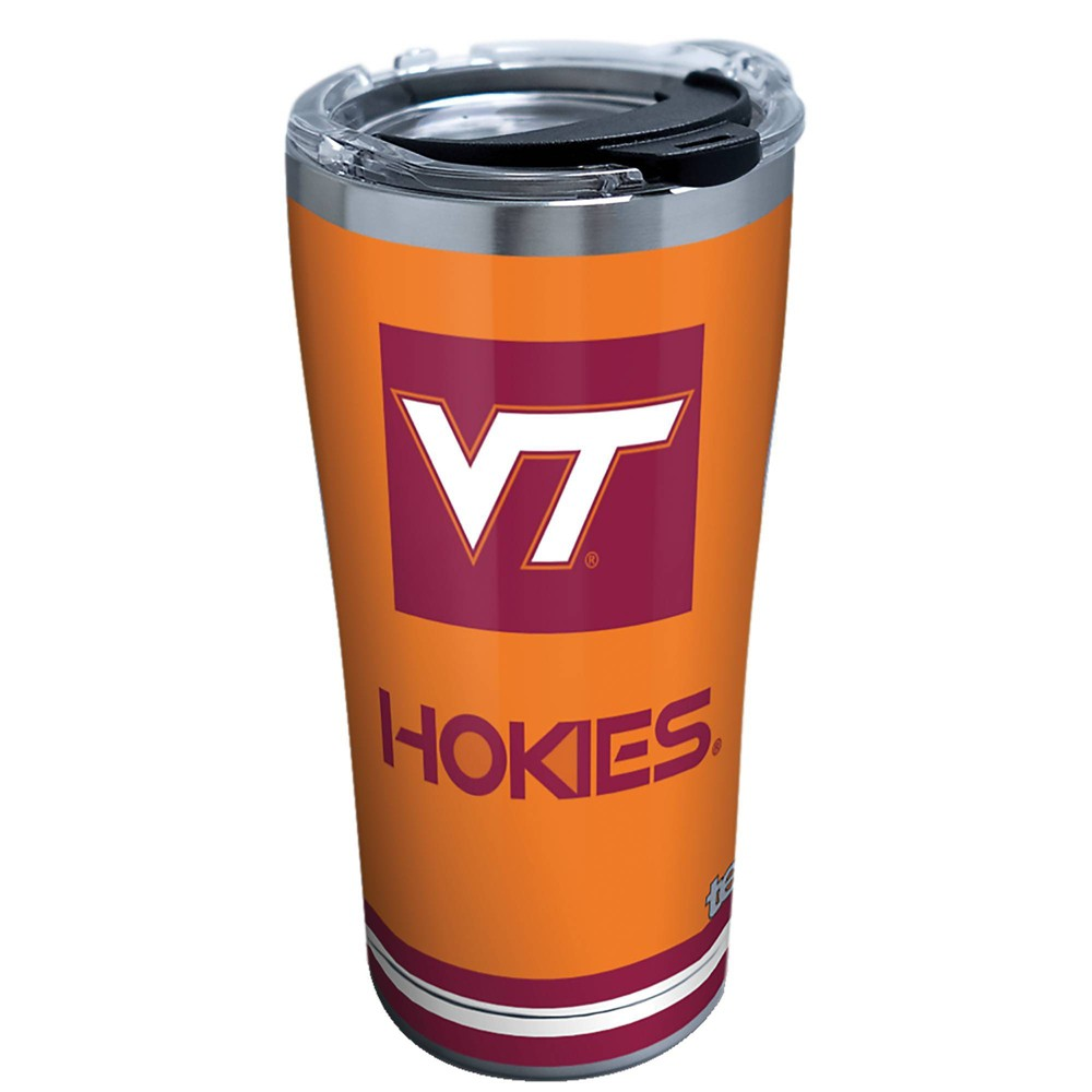 Ncaa Virginia Tech Hokies 20oz Blocked Stainless Steel Tumbler