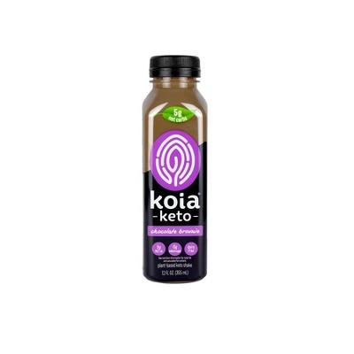 Koia Keto Chocolate Brownie Plant Powered Nutrition Shake - 12 fl oz