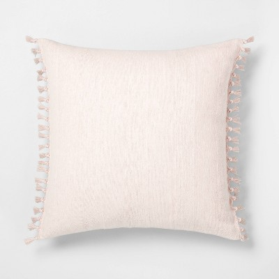 22x22 Wide Stripe Pillow Peach - Hearth & Hand™ with Magnolia