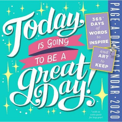 photo regarding Page a Day Calendar identify These days Is Likely towards Be a Terrific Working day! Website page-A-Working day Calendar 2020