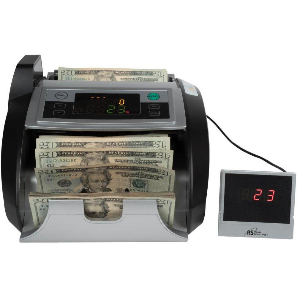 Image of Royal Sovereign Bill Counter with External Display System - Supports New US $100 Notes RBC-2100