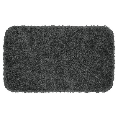Garland Serendipity Shaggy Washable Nylon Bath Rug - Dark Gray (24 x40 )