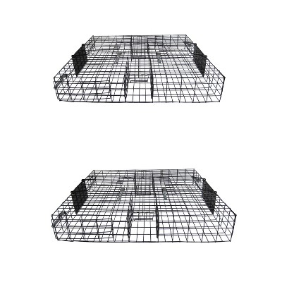 Rugged Ranch SQR Squirrelinator Live Chipmunk Squirrel Rat Mouse Rodent Small Animal Metal Wire 2 Door Trap Cage, Black (2 Pack)