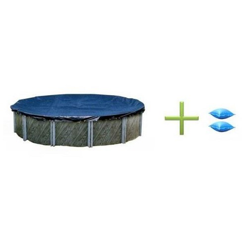 New Winter Above Ground Round Swimming Pool Cover 28' + 2 4x8 Air Pillows - image 1 of 4