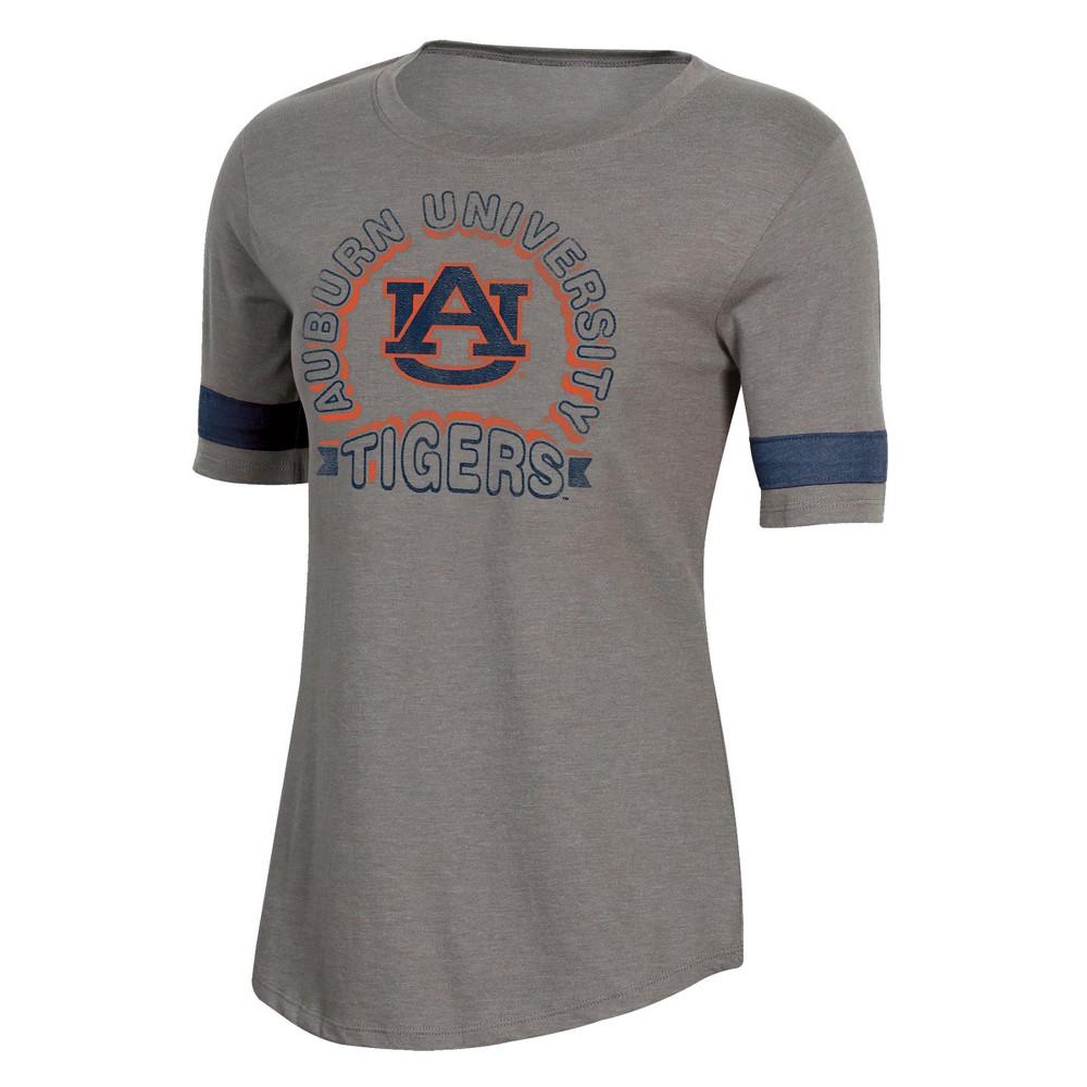 NCAA Women's Short Sleeve Scoop Neck T-Shirt Auburn Tigers - L, Multicolored
