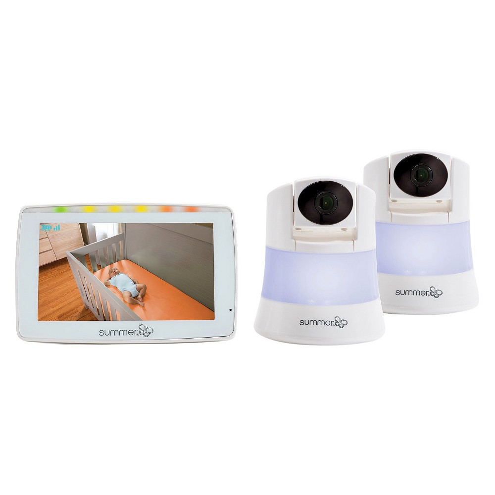 Summer Infant 5 Wide View Duo 2.0 Video Baby Monitor with Two Cameras, White