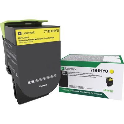 Lexmark Toner Cartridge - Yellow - Laser - High Yield - 1 Each