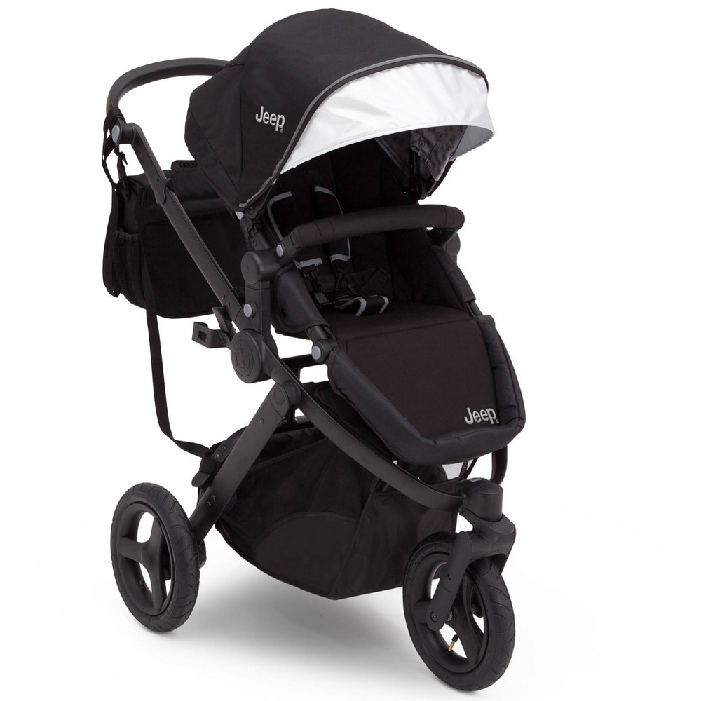 Image of J is for Jeep Brand Sport Utility All-Terrain Jogger Stroller - Black