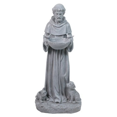 "Northlight 17"" St. Francis Outdoor Bird Feeder Garden Statue"