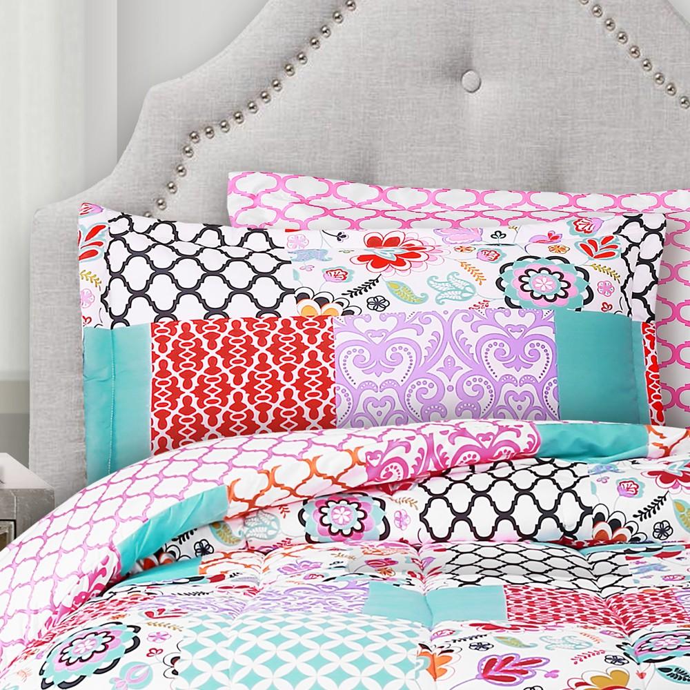 5pc Twin XL Patchwork Brookdale Comforter Set -Lush Decor, Multicolored