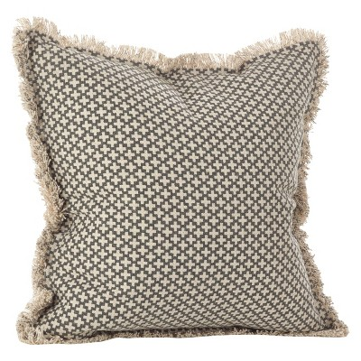 "Slate Corinth Moroccan Tile Design Throw Pillow (20"")- Saro Lifestyle"