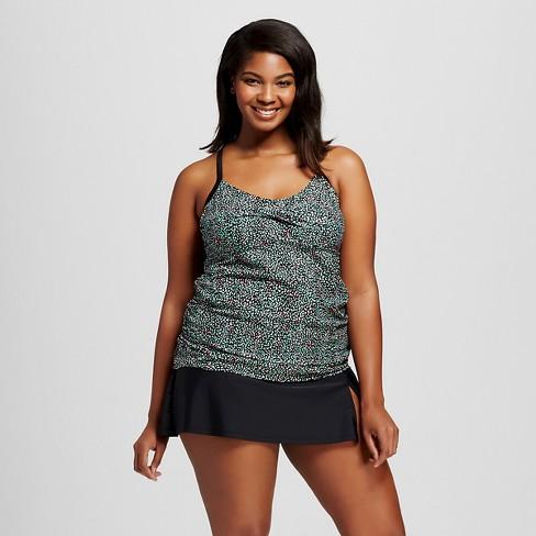 8c1c796dc08 Women s Plus Size Strappy Halter Tankini - Ava   Viv™ Scatter Dot 26W    Target