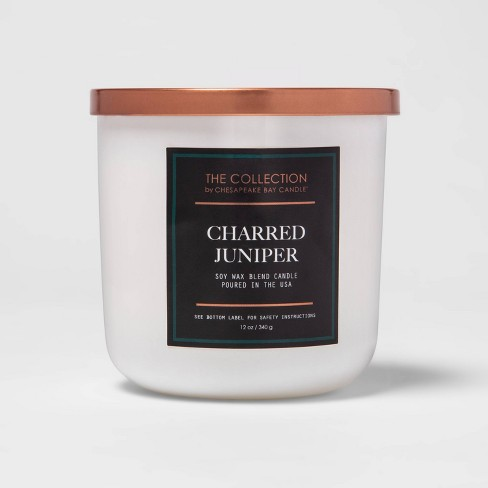 12oz Lidded Core Glass Jar 2-Wick Charred Juniper Candle - The Collection By Chesapeake Bay Candle - image 1 of 4