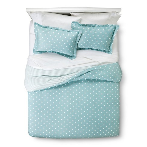 Reversible Duvet Cover Set Dots & Stripes 3pc - Elite Home Products - image 1 of 3