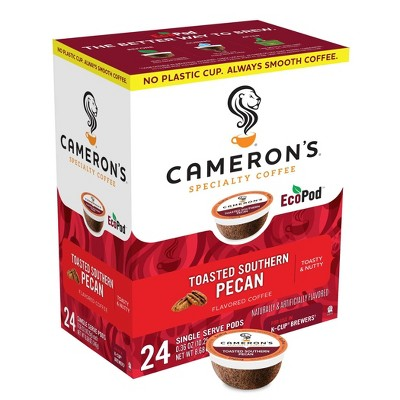 Cameron's Coffee Toasted Southern Pecan Light Roast Coffee Pods - 24ct